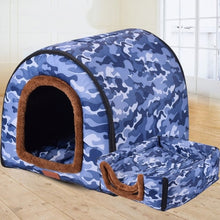 New Warm Dog House Comfortable Print Stars Kennel Mat For Pet Puppy Top Quality Foldable Cat Sleeping Bed cama para cachorro