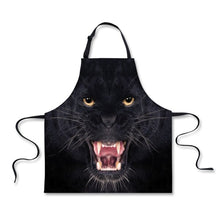 FORUDESIGNS Funny Black Kitchen Aprons Cute Printed Animal Dog Cat Cooking Apron for Men Women Novelty Chef Cafe Work Aprons