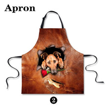 Cute Animal Apron for Women Man 3D Dog Cat Print Apron Funny Kitchen Wear Home Cleaning Half Bibs Cooking Tool Free Shipping