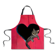 FORUDESIGNS Lovely Cat Dog Pattern Women Apron Kitchen Restaurant Cooking Shop Art Work Apron Waiter Aprons With Adjust Strap