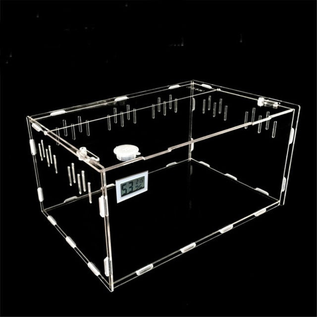 S/L Size Reptile Tank Insect Spiders Tortoise Lizard Acrylic Transparent Breeding Box Vivarium Lid Reptile Pet Product Terrarium