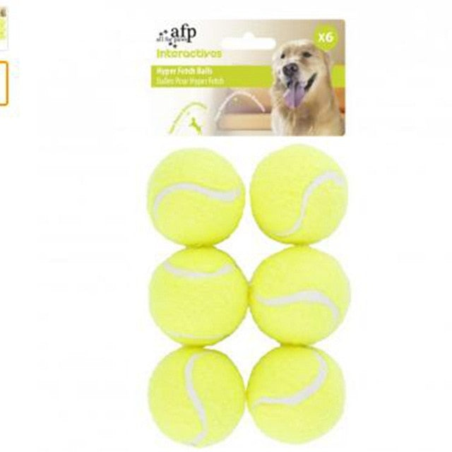 6 x Dog Tennis Balls Replacement Exercise Trainer Launcher Thrower Chucker Cat Bounce Sport Toy AFP Hyper Fetch Mini Pet