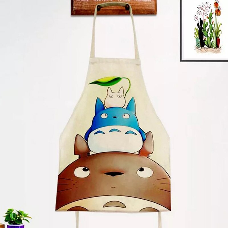 designs cartoon cat  dog Apron Sleeveless Waterproof Anti-oil Aprons kitchen cooking Waist Bib Women apron Custom LOGO