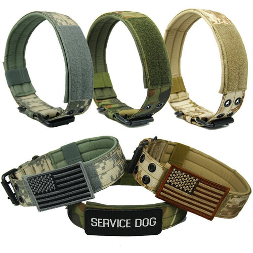 4.5 cm Width Durable Nylon Dog Collar Outdoor Tactical Training Collar Pet Military Collar Dog Police Pet Products Wholesale