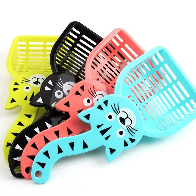 Useful Cats Cat Litter Shovel Cleanning Tool Toilet Puppy Food Spoons Pet Plastic Cleaning Products Cleaning Spades Shovel