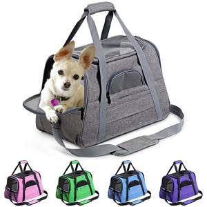 Dog Carrier Portable Pet Backpack Messenger Cat Carrier Outgoing Small Dog Travel Bag Soft Side Breathable Pet Carrier For Cat