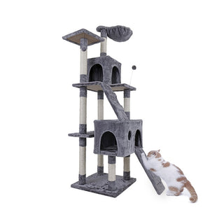 4 Kind Cat Toy Scratching Post Cat Wood Climbing Tree Jumping Training Frame Cat Furniture Cat House Condo Domestic Delivery