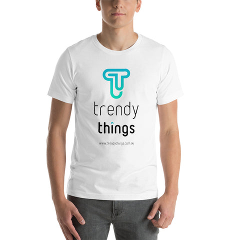 Trendy Things Logo Short-Sleeve Unisex T-Shirt - Front Print