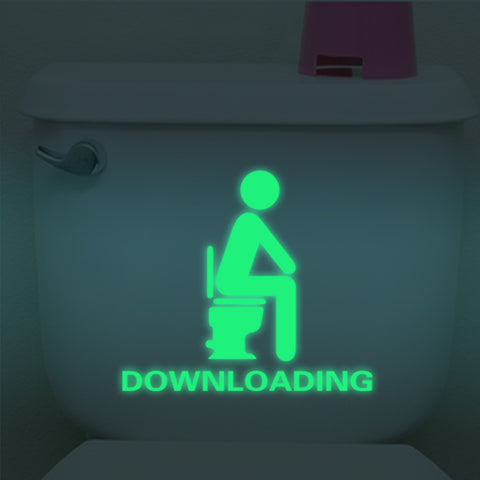 Luminous & Fluorescent Toilet/Bathroom Wall Sticker - Removable