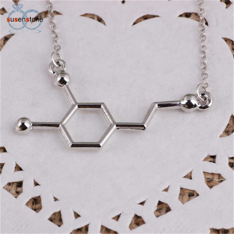 DNA Dopamine Biochemistry Molecule Necklace