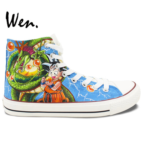 "WEN Hand Painted Canvas ""Anime Dragon Ball"" Recreation Sneakers"