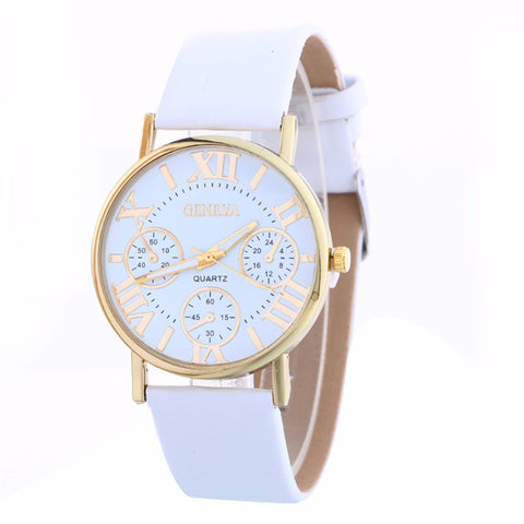 Casual Fashion White Band/Face Watch - Vintage - Necessities Australia