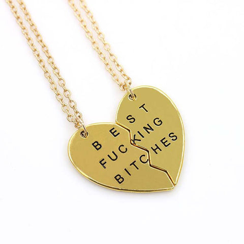 """BEST FUCKING BITCHES"" Couple Chain/Necklace/Pendant - Necessities Australia"