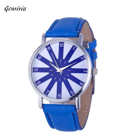 Blue Leather Band Summer Dress Watch - Necessities Australia