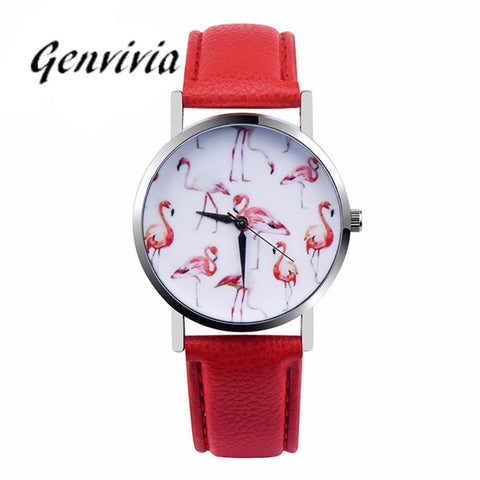 Genvivia Pink Flamingoes Quartz Fashion Watch - Necessities Australia