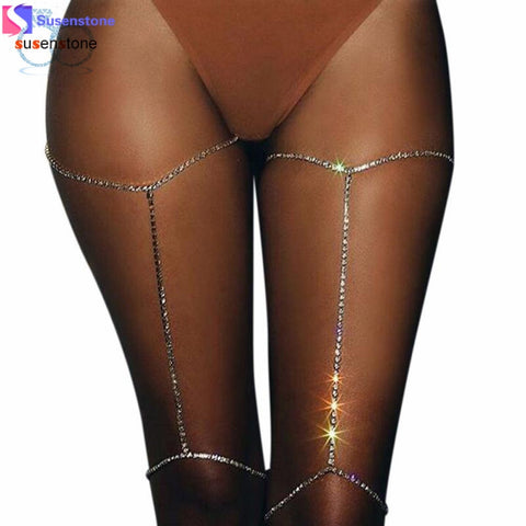 1PC Shiny Rhinestone Body Leg Chain Crystal - Necessities Australia