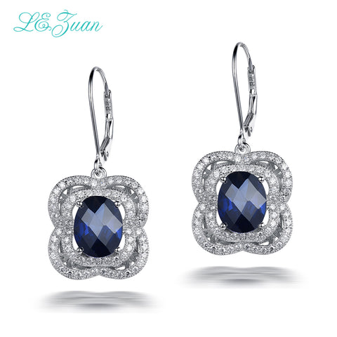 925 Sterling Silver 7.51ct Sapphire Luxury Drop Earring - Necessities Australia