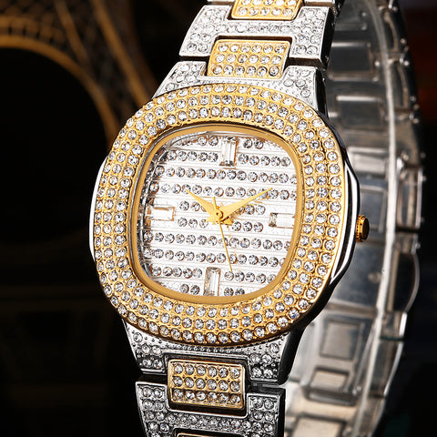 Diamond Golden Jewellery Bracelet Watch - Necessities Australia