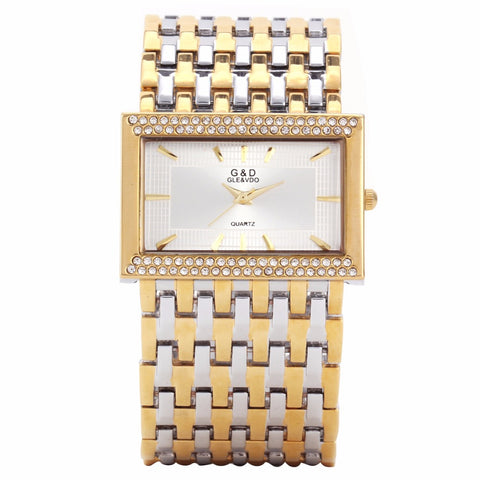 G&D Quartz Silver/Gold Bracelet Watch - Quartz Dress Watches, Steel Band - Necessities Australia