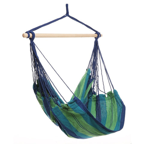 Outdoor Air Swing Solid Wood Hammock Chair (Green)