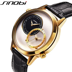 SINOBI Fashion Dual Time Zone Luxury Wrist Watch 2018 - Necessities Australia