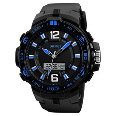 Sport Watch Dual Display LED Digital Quartz - Waterproof - Necessities Australia