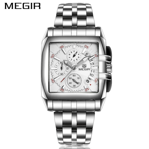 Date Chronograph Luxury Stainless Steel Business Watch - Waterproof Quartz - Necessities Australia