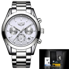 2018 LIGE Luxury Full Steel Waterproof Business Watch - Necessities Australia