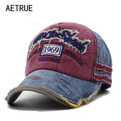 Casual Grunge-style Embroidered Baseball Cap - 5 Panel - Necessities Australia