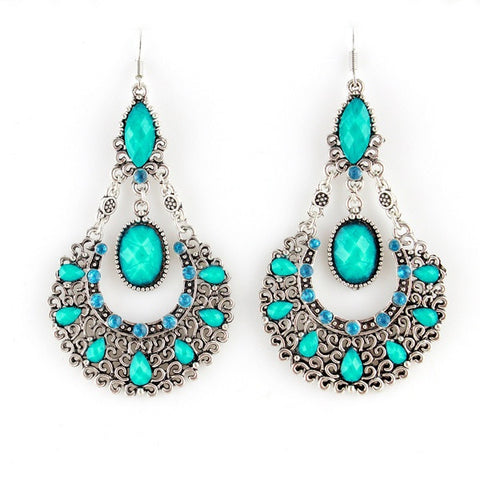 Ethnic Style Beads Alloy Drop Earrings