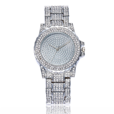 Diamond Quartz Analogue Silver Mesh Strap Dress Bracelet Watch - Necessities Australia