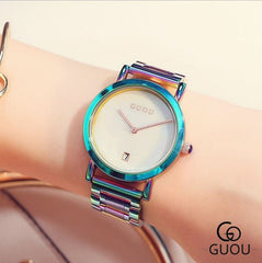 GUOU Colourful Bracelet Watch - Calendar - Necessities Australia