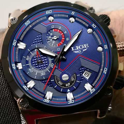 2018 LIGE Luxury Military Sports Watch - Waterproof Multi-function Quartz Watch - Necessities Australia