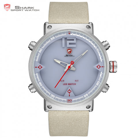 Bluegray Carpet Shark Sport Watch - Digital,  Double Time, LED Date - Necessities Australia