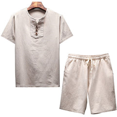 Loose Casual Male T-Shirt & Shorts Set - Necessities Australia
