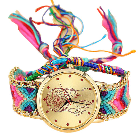 Handmade Braided Dreamcatcher Friendship Bracelet Watch - Necessities Australia