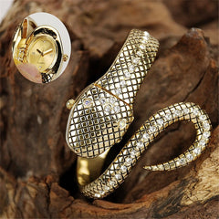 Luxury G&D Creative Gold Snake Bracelet Watch - Quartz Wristwatches - Necessities Australia