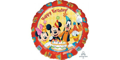 "17"" Mickey & Friends Happy Birthday"