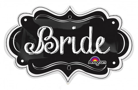 SuperShape Bride Charlkboard Marquee