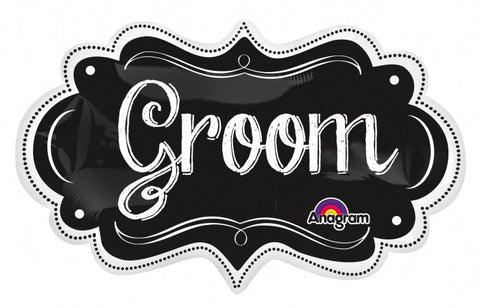 SuperShape Groom Charlkboard Marquee