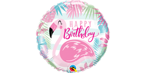 "18"" Foil Birthday Pink Flamingo"
