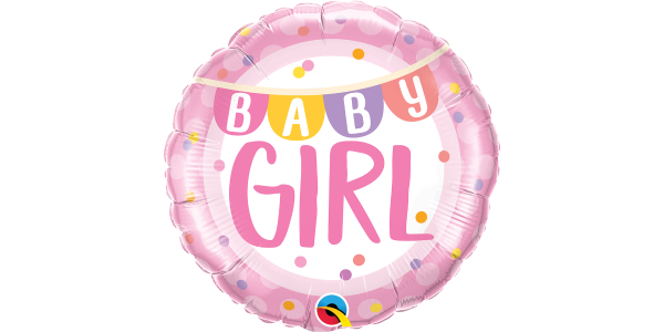 "18"" Foil Baby Girl Pink Stripes"
