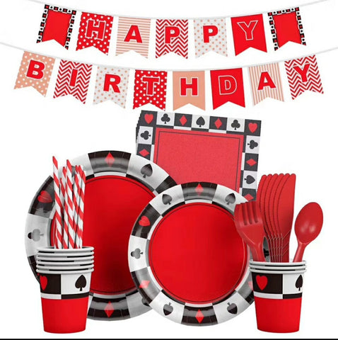 Poker Birthday Party Set
