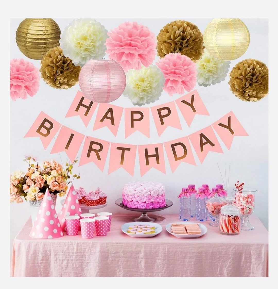 Pink birthday party theme