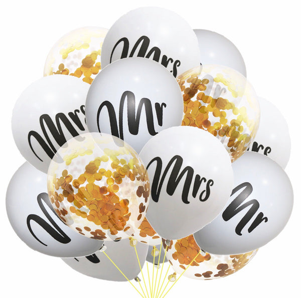 Mr Mrs balloon kit set