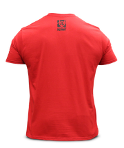 MUTANT Legacy Staggered Wordmark Red Tee - Back