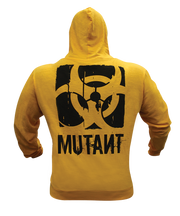 MUTANT4LIFE Yellow Zip-up Hoodie - Front