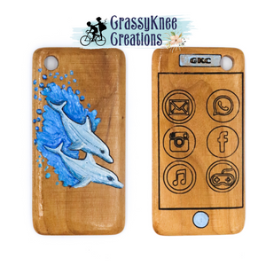 Hand carved Dolphin Smartphone
