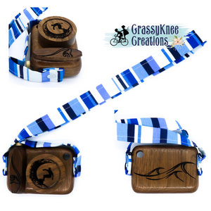 Ride the Wave Walnut Hand-carved Camera
