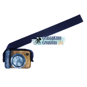 Navy Glitter Classic Camera, Striped Poplar